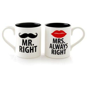 Mr. Right & Mrs. Always Right Mugs Bundle-NewlyWed
